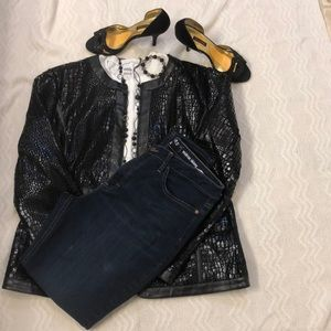 Rider by Lee mid rise jeans Size 16M Dark blue $16